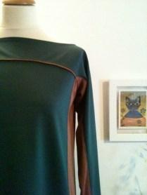 vestido verde detalle