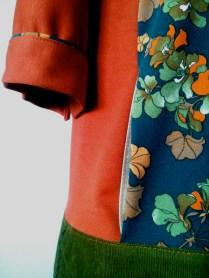 vestido canguro detalle