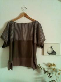 Blusa rayas grises Gray stripes Blouse 42€