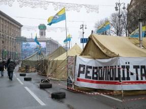 Tents on Khreshchatyk