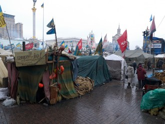 Inside the protester's camp