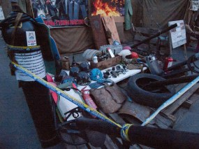 Stuff, that have been used by protesters