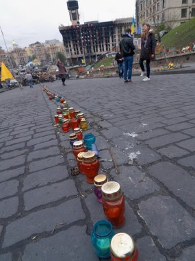 Candles at Institutskaya street