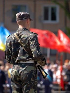 Victory Day celebration. May 8, 2014. Krivoy Rog, Ukraine