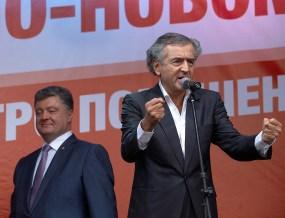 Bernard-Henry Levy and Petro Poroshenko