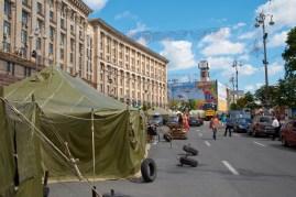 Last tents at Khreschatik
