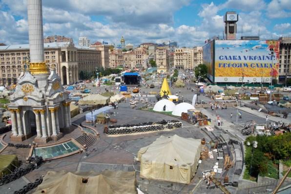 Last tents at Maidan
