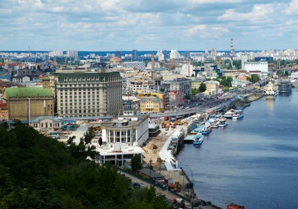 View to Podol and Dnipro river