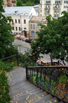 Stairs from Zamkovaya gorka (Castle Hill) to Andriyivskyy Descent