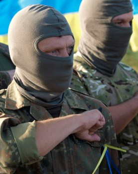New members of Mariupol self-defense unit