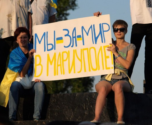 """We want peace in Mariupol"""
