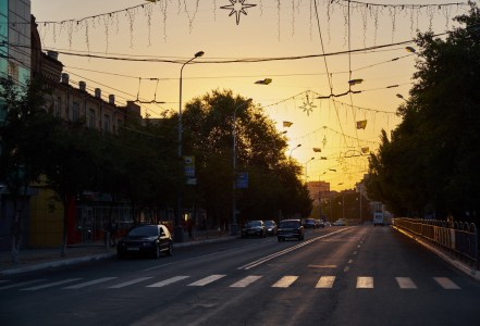 Lenin's avenue at evening