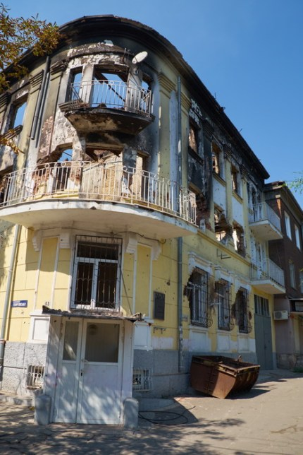 Destroyed police department of Mariupol