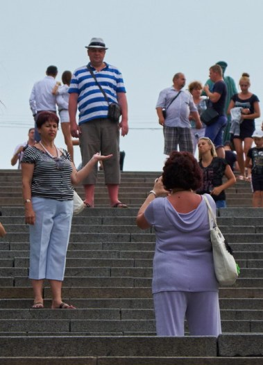 People at Potemkin stairs