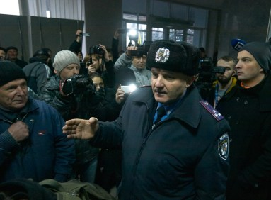 The Head of th e City Police Department Valeri Lyuty proclaim about anonymous call, that report about possible bomb inside the building