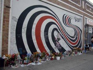 Elliot Smith tribute wall