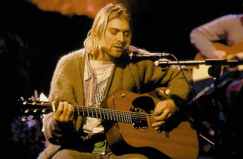 Kurt on the Nirvana Unplugged MTV special