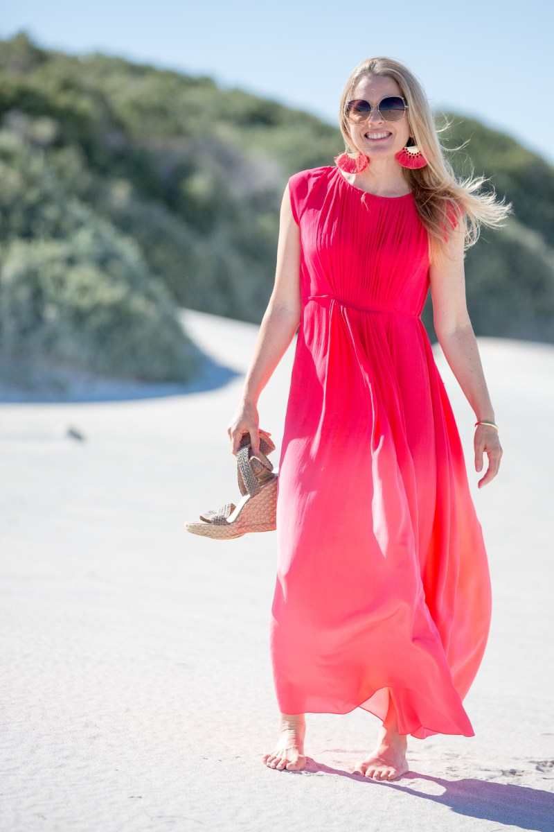 Beach-style-red-pink-maxi-dress-ali-peat
