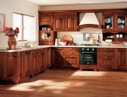 sharp-kitchen-decoration-in-stained-solid-wood