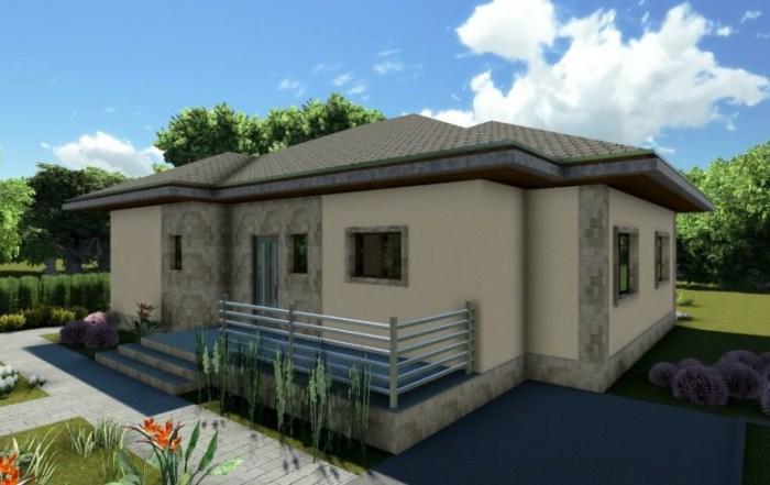 AliQuantum projekat – Prizemna porodična kuća od 100 m2