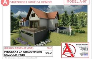 MODEL A-07, gotovi projekti vec od 50e, projekti, projektovanje, izrada projekata, house design, house ideas, house plans, interior design plans, house designs, house