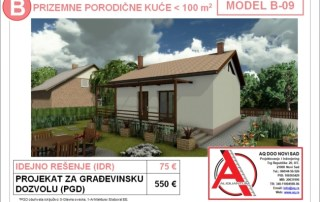 MODEL B-09, gotovi projekti vec od 50e, projekti, projektovanje, izrada projekata, house design, house ideas, house plans, interior design plans, house designs, house