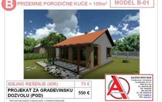 MODEL B-01, gotovi projekti vec od 50e, projekti, projektovanje, izrada projekata, house design, house ideas, house plans, interior design plans, house designs, house