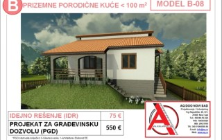 MODEL B-08, gotovi projekti vec od 50e, projekti, projektovanje, izrada projekata, house design, house ideas, house plans, interior design plans, house designs, house