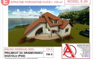 MODEL E-29, gotovi projekti vec od 50e, projekti, projektovanje, izrada projekata, house design, house ideas, house plans, interior design plans, house designs, house