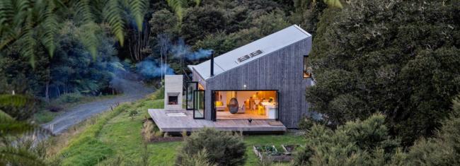 Moderna koliba na Novom Zelandu