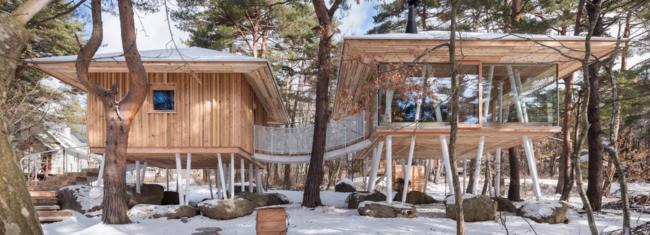 Life Style Workshop integriše kuću za odmor u prirodno šumsko stanište Japana
