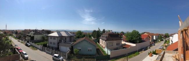 Panorama Fruške Gore sa terase stana A4