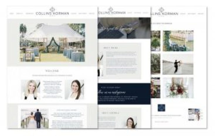 showit 5 website design, website design, showit 5, custom website design, wedding planner, amelia island, luxury wedding planner, event planner, collins korman events, wedding planner branding