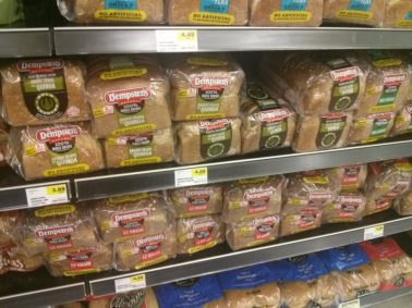 Branded sliced bread display