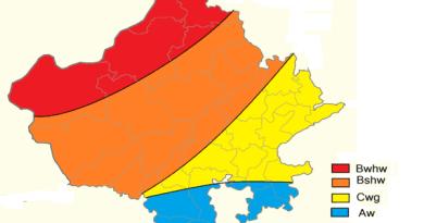 राजस्थान की जलवायु (Rajasthaan Kee Jalavaayu)