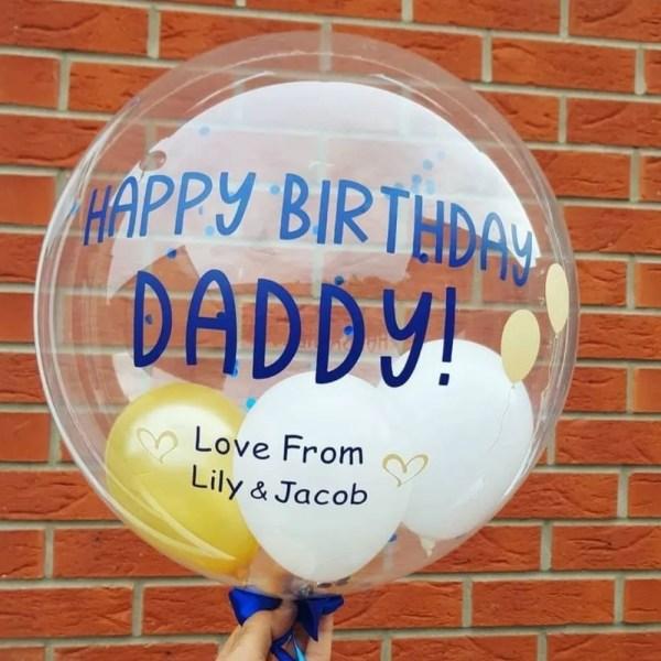 Happy birthday daddy bubble balloon