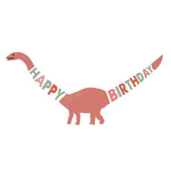Orange dinosaur banner