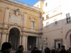 Inner courtyard of the Capitoline Museum