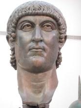 Bronze version of Constantine's head