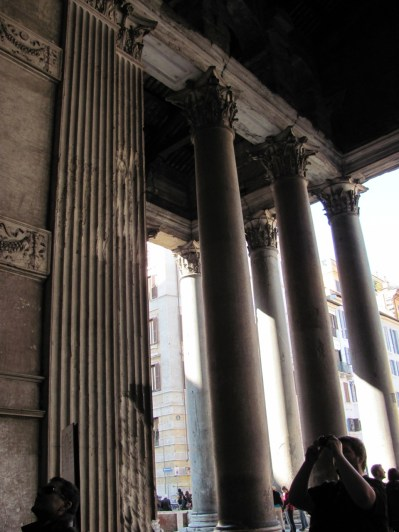 Pantheon - inside the portico
