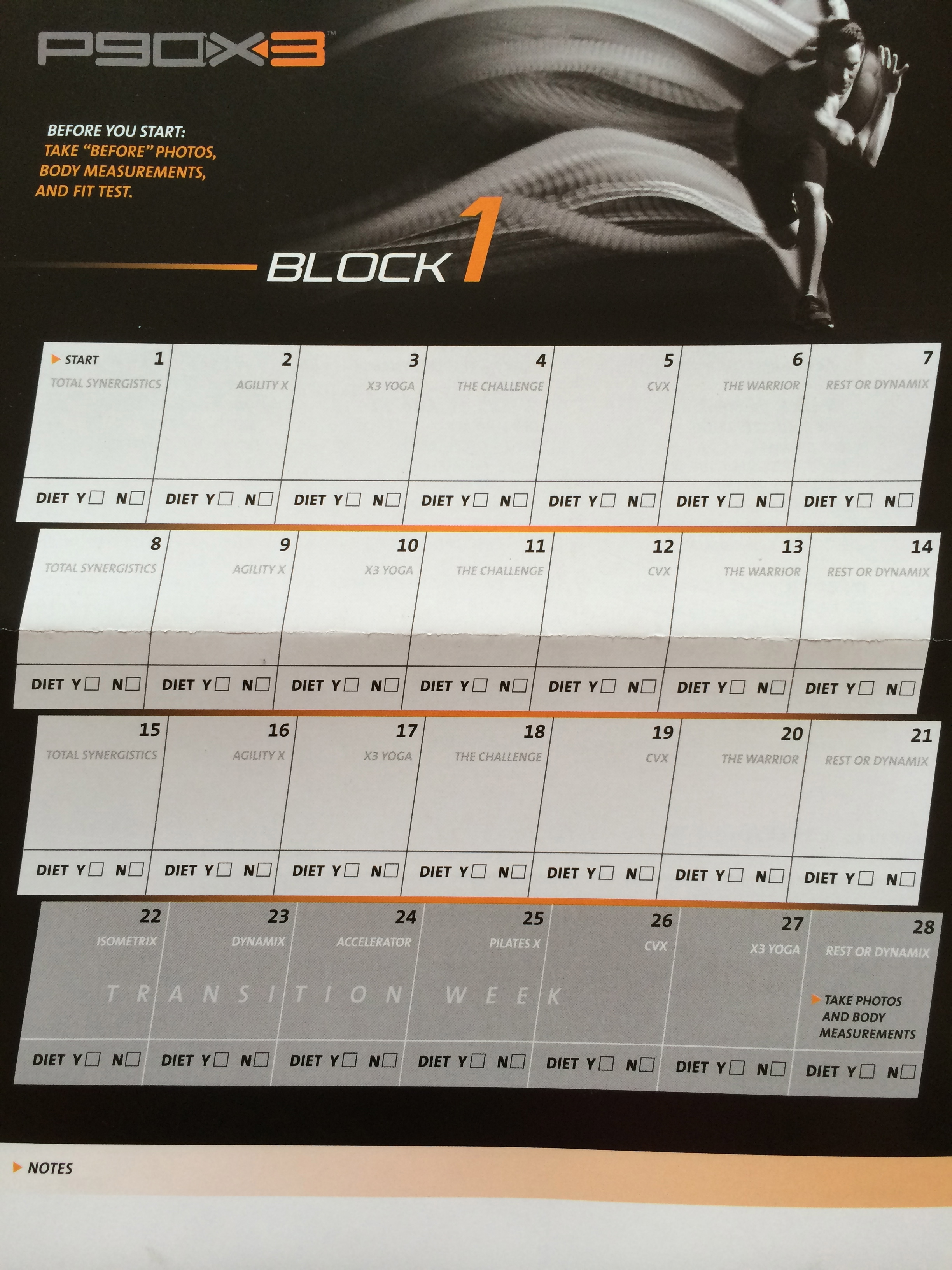 P90x3 Workout Tracker