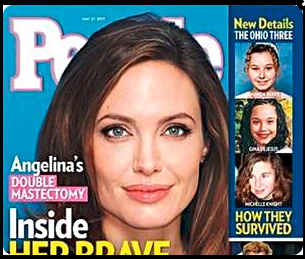 Angelina Jolie on the cover of People Magazine