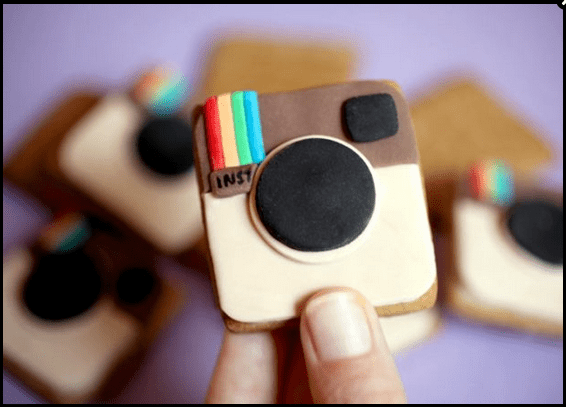 a clay model of the Instagram logo