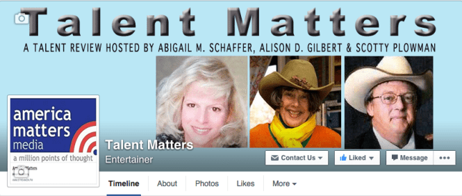 The Talent Matters Facebook Page Cover
