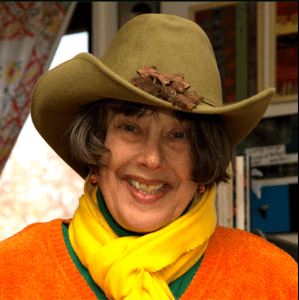 Alison D. Gilbert in her cowgirl hat