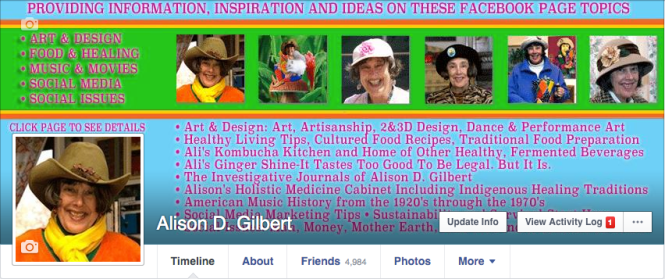 Alison D. Gilbert, Facebook Profile