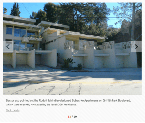 Rudolf Schindler-designed Bubeshko Apartments on Griffith Park Boulevard. Photo: Dwell