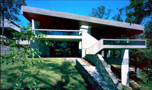 Harry and Penelope Seidler House. Constructed in brute concrete as the primary residence of the Seidlers in Sydney, it is considered one of Seidler's masterpieces.