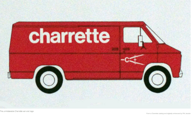 The Charrette red van was part of my intense research & writing process