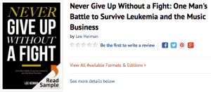 Never Give Up by Lee Heiman